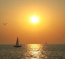 Nautical Sunset by Melissa  Yates