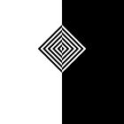 Concentric Black and White Diamonds by helveticate