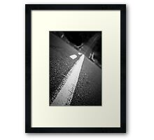 Down another road Framed Print