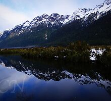 Mirror Lakes 1 by Adam Northam