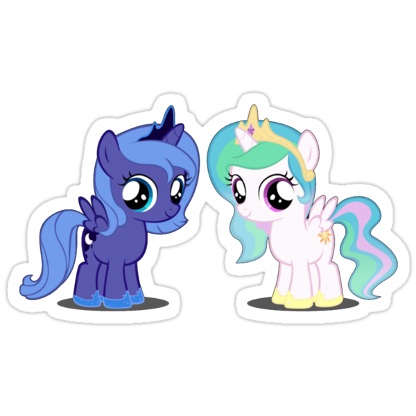 Luna and Celestia as Fillys by wafflzxpqx