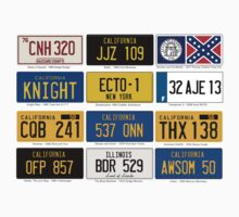 Famous Number Plates Kids Clothes