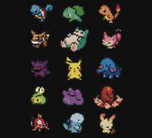 Pixel Pokemon sticker pack Kids Clothes