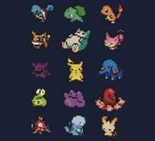 Pixel Pokemon sticker pack Kids Clothes