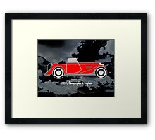 1952 Morgan Plus 4 drophead, vintage sports car Framed Print