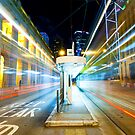 Night traffic in Hong Kong  by kawing921