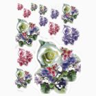 BUNCH OF FLOWERS STICKERS by Shoshonan