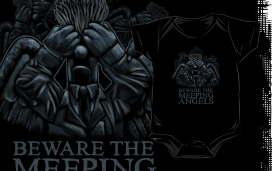 BEWARE THE MEEPING ANGELS - Design #2 by James Hance