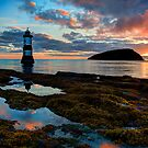 Penmon Lighthouse Puffin Island Anglesey, North Wales, U.K. by Mal Bray