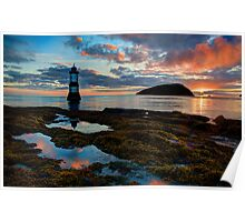 Penmon Lighthouse Puffin Island Anglesey, North Wales, U.K. Poster
