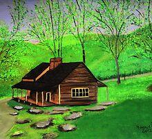 Hillside Cabin  by maggie326