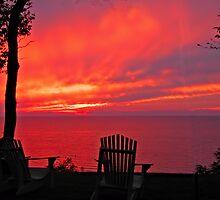 Lake Huron sunset by Yukondick