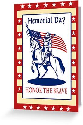 American Patriot Memorial Day Poster Greeting Card by patrimonio