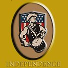 American Patriot Independence Day Poster Greeting Card by patrimonio