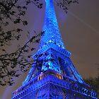 PARIS, FRANCE - Blue Eiffel Tower by jsafford