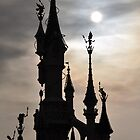 PARIS, FRANCE - Disneyland Paris Castle backlit by jsafford