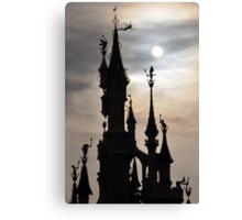 PARIS, FRANCE - Disneyland Paris Castle backlit Canvas Print