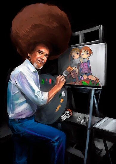 Bob Ross and Lolis by Fede ­