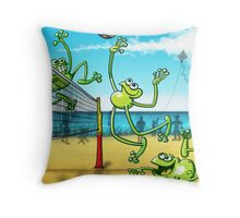 Olympic Volleyball Frog Throw Pillow