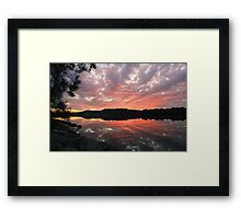 reflecting on the river ... Framed Print