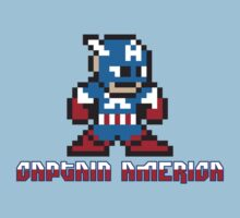 Captain America 8 Bit by jpappas