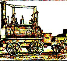 """Blücher"" a steam locomotive by George Stephenson 1814 by Dennis Melling"