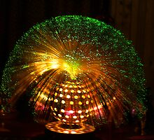Green Fibre Optic Lamp by Bev Pascoe