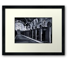 soldiers in the aisle Framed Print