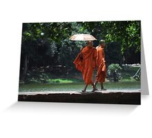 Catwalk Monks Greeting Card