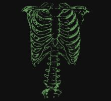 Spinal Tap (Nigel Tufnel) Green Ribcage Skeleton  by LamericaTees