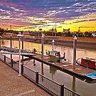 Breakfast Creek Wharf late sunset Brisbane Australia by PhotoJoJo