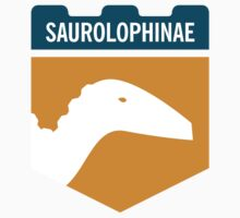 Dinosaur Family Crest: Saurolophinae by David Orr