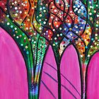Pink Confetti Tree 3 by ShellsintheBush