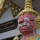 Red Demon Guard in Pattaya by jeffreynelsd