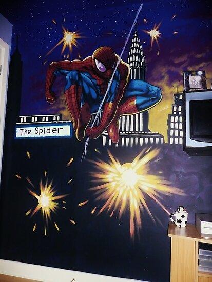 spiderman wall mural by imajica