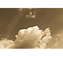 Sepia Clouds Photographic Print