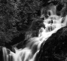 Torc Waterfall Killarney B&W by Phillip Cullinane