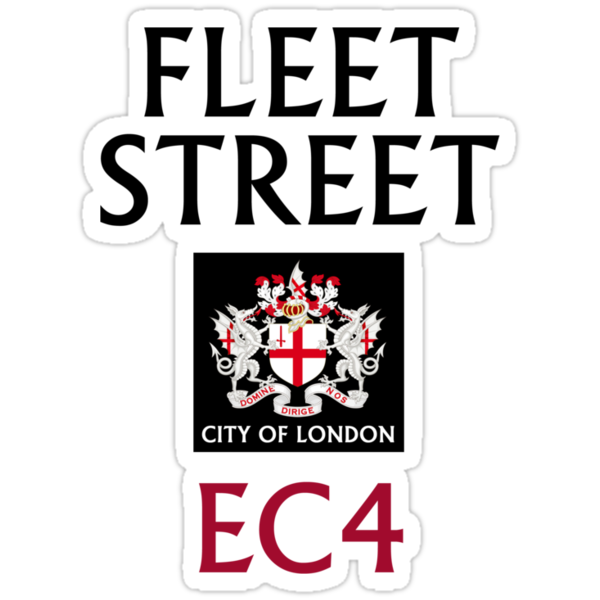 Fleet Street Sign by StreetsofLondon