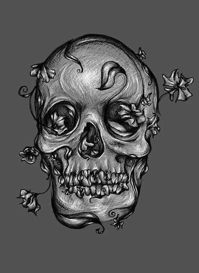 Skull #2 ~Grey by Shelbeawest