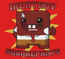 Meatboy Squarepants by supaloco