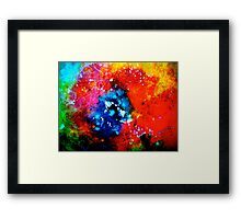 Yawn of Fire....Poppy Abstract. Framed Print
