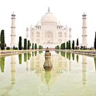 The Taj Mahal at Sunrise in November  by Valerie Rosen