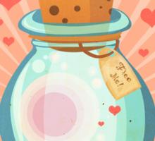 Free Hearts Sticker