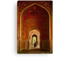 In the Taj Canvas Print
