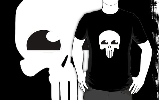 Happy Punisher (White) by vamp1r4t3