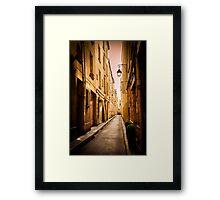 Alleyways of Paris, France Framed Print