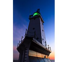 Ludington Lighthouse at Twilight Photographic Print