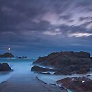 """Misty Evening Tide, La Corbiere, Jersey""  by Bradley Shawn  Rabon"