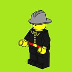 Fire Fighter Minifig by Customize My Minifig  by ChilleeW