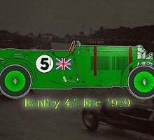 Bentley 4.5 litre Le Mans by Dennis Melling